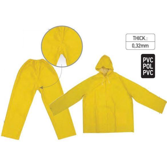 18235 -  esőruha PVC sárga - XL,
