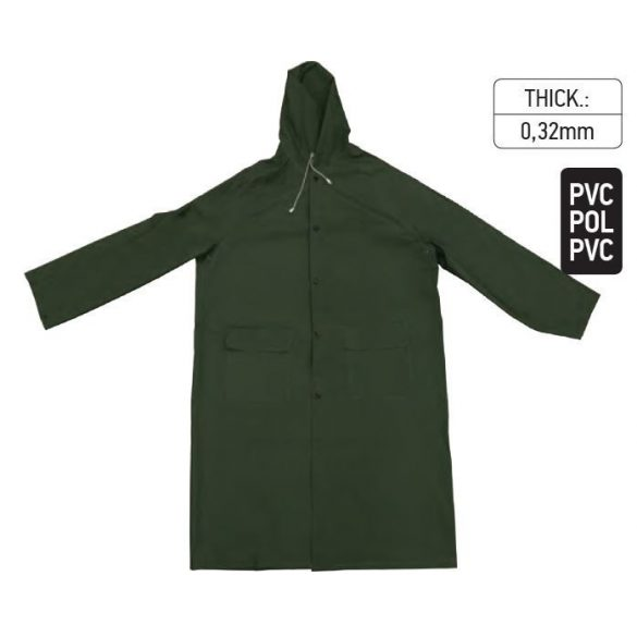 18238 -  esőkabát PVC zöld - L,