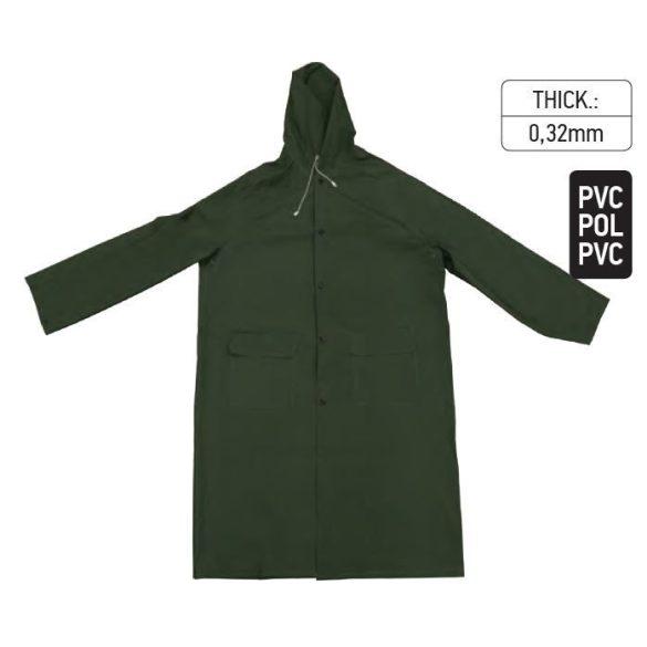 18239 -  esőkabát PVC zöld - XL,
