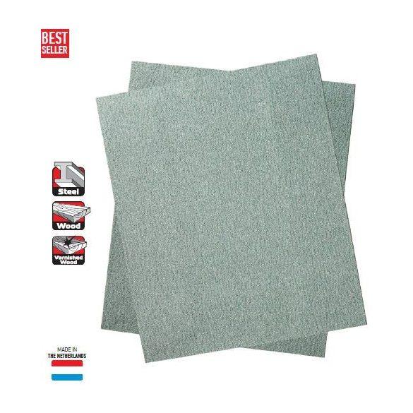 19256 -  szabad vágású homokpapír, ezüstFLEX, 23x28cm - 150k,