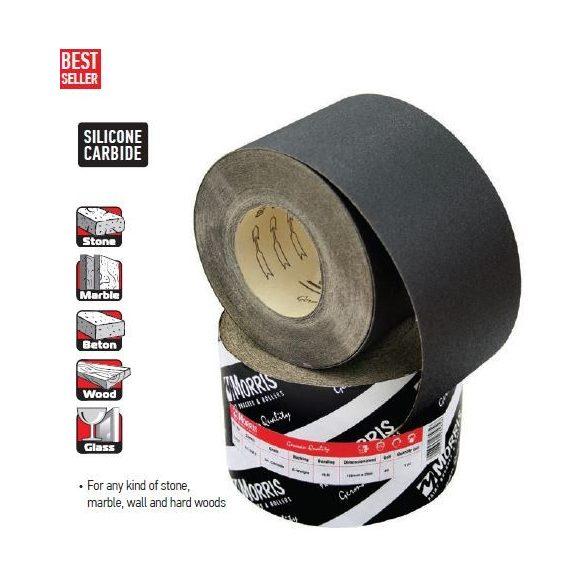 23562 -  csiszolópapír tekercs, fekete,  115mm x 25m, szemcse 040κ, PC218E