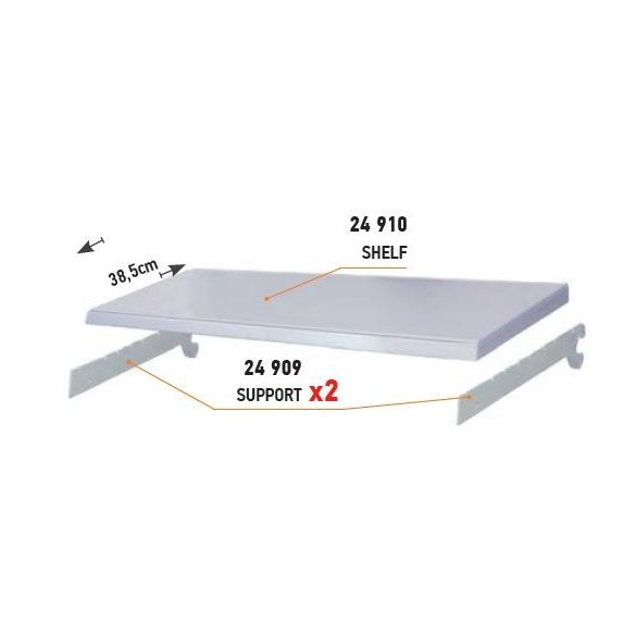 24909 -  STAND F: polctartó konzol (370)-szín 9006