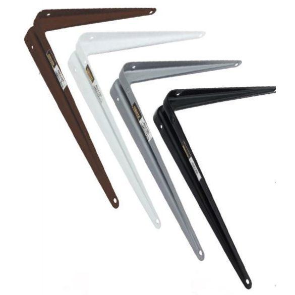 25745 -  polctartó konzol (spanyol típus) erősített,  fehér 100x125x1mm