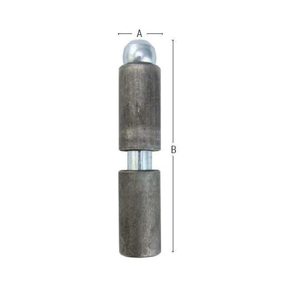 25765 -  heggeszthető vaszsanér fém ajtókhoz  12x60