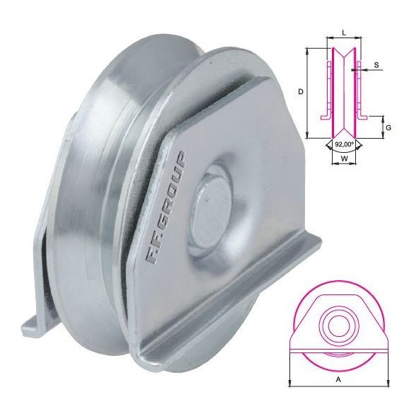 25780 -  kerék külső kengyellel, (60mm)