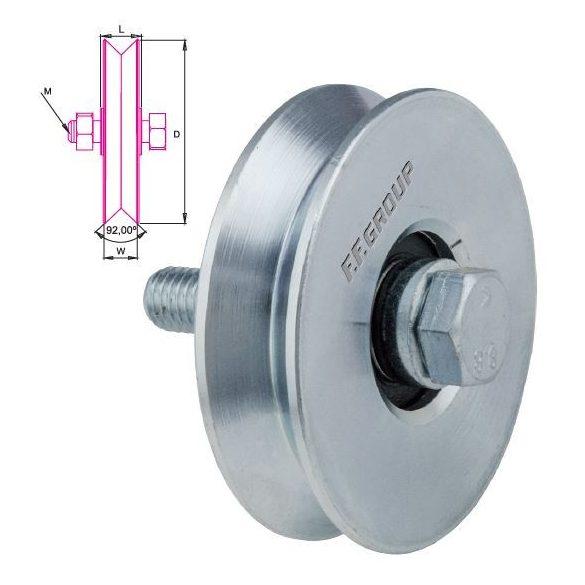 25782 -  kerék csavarral, (60mm)
