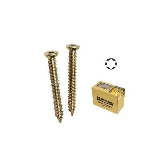 25885 -  M7.5X182 - lapos fejű -TORX betoncsavar  sárga ZINC CR3+,   100db,