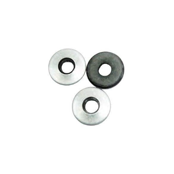 25984 -  Μ 4.8x16 - fekete galvanizált EPDM gumis alátét,   1000db