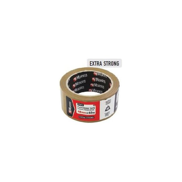 26053 -  csomagolószalag barna, halk PVC,  48mmX60m