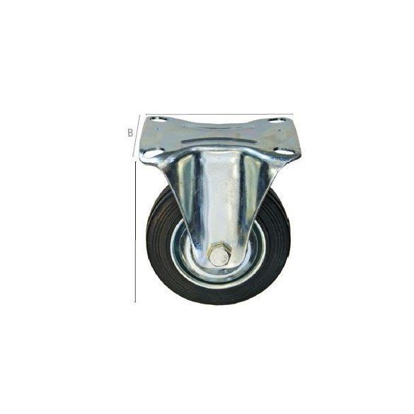 27536 -  ipari fekete görgő, fix 85mm,