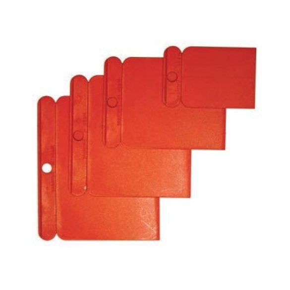 27558 - műanyag felületkaparó szett 4db, piros