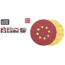 33518 -  tépőzáras lemez/tárcsa,  piros, 125 - 8 lyuk - 040K