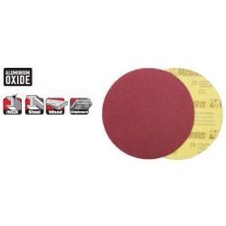 33526 -  tépőzáras lemez/tárcsa,  piros, 125 - lyuk nélkül - 040K