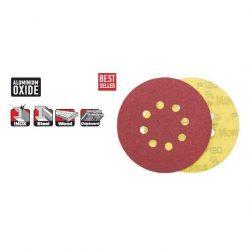 33536 -  tépőzáras lemez/tárcsa,  piros, 150 - 6 lyuk - 080K