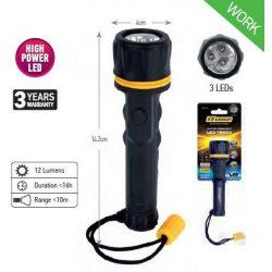 34591 -  vízálló lámpa világos, 3 led, KÖZEPES,
