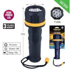 34592 -  vízálló lámpa világos, 7 led, NAGY,