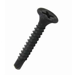 34605 -  PHILLIPS süllyesztett fejű  BSD önmetsző gipszkartoncsavar, sötétszürke foszfátozott PHOSPHATED,  M3.5X45