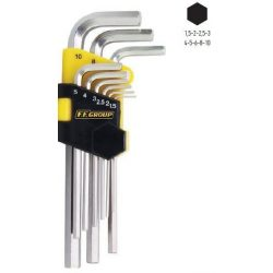 34758 -  extra hosszú HEXA kulcs (imbuszkulcs) csavarkulcs szett, 9db,