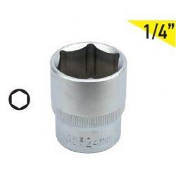 "35004 -  dugókulcs  6pt cr-va, 1/4""dr, 06mm"