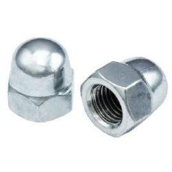 36294 -  M06 - hatlapfejű zárt kúpos záróanya, galvanizált, DIN 1587-4.8,  , (1200 db)