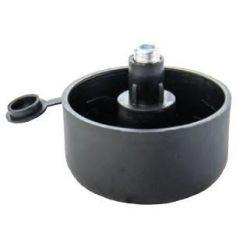 37133 -  állítható láb fekete  D49 x H17 mm,  (25pcs)