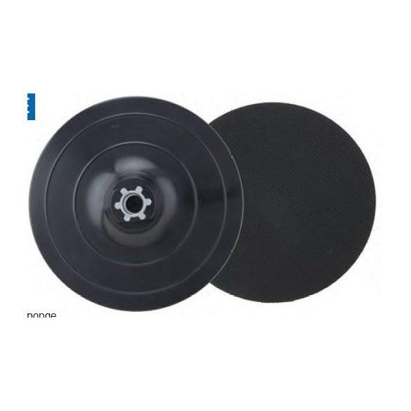 37679 - rugalmas polírozó műanyag tárcsa tépőzáras,150mm, M14,