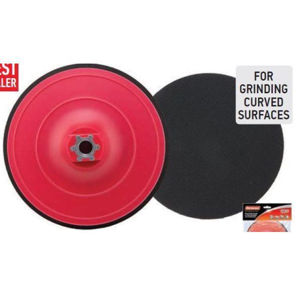 37697 - polírozó műanyag tárcsa piros tépőzáras M14, 150x10mm,