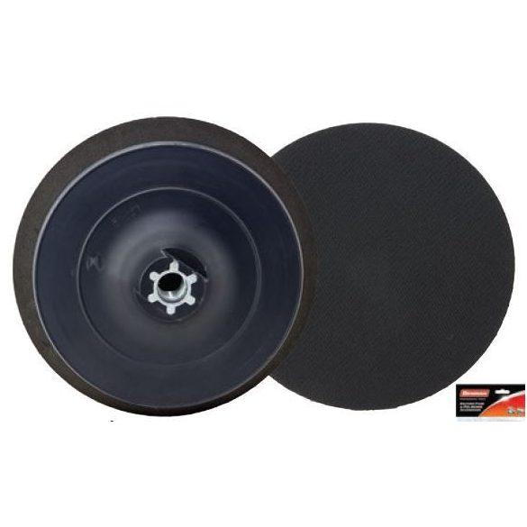 37698 - polírozó műanyag tárcsa fekete tépőzáras M14, 125x18mm,
