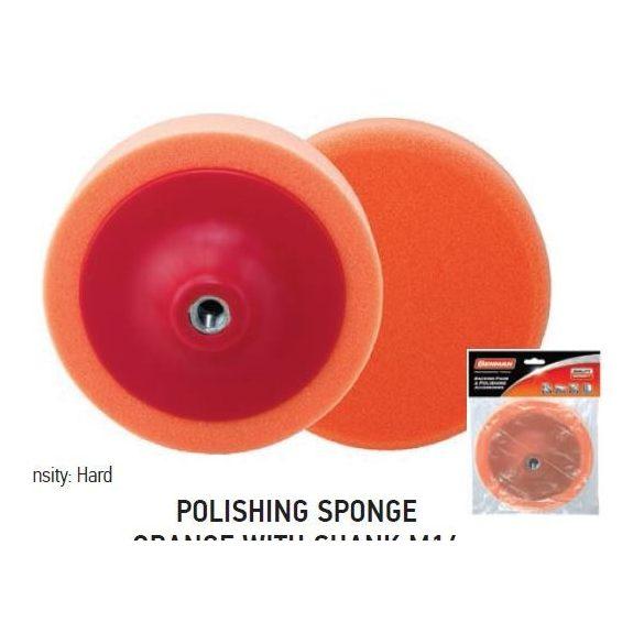 37707 - polírozó szivacs narancs szárral, 150x50mm, M14,