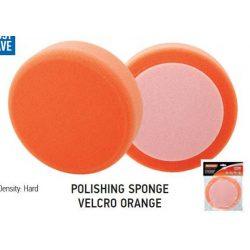37711 -  polírozó szivacs tépőzáras narancs, 150x50mm,