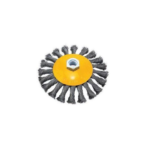 38692 - csavart kúpos drót kefekerék menettel S0.50mm, ?125mmXM14