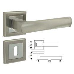 41036 -  belétri kilincs szett (fogantyú + rozetta), alumínium,   szatén nikkel/nikkel