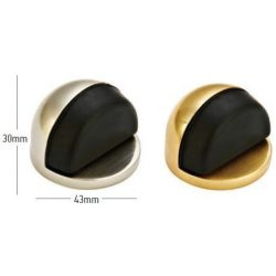 41048 -  ajtó/padló támaszték széles  Φ43 Η30mm szatén sárgaréz