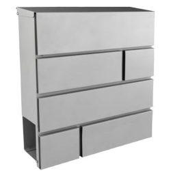 41599 -  postaláda ezüst újságtartó rekesszel, 370x370x105x0,6mm,