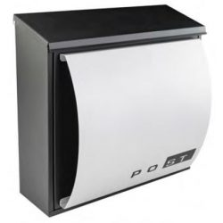 41600 -  postaláda fekete-ezüst, 330x165x345x0,6mm,