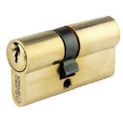 60001 -  cilinder , GR2S, 3 kulcs, 60mm(27-33), csiszolt sárgaréz