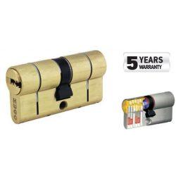 60027 -  cilinder biztonsági záras,  GR3.5S, 75mm (30-45), 5 kulcs, csiszolt sárgaréz