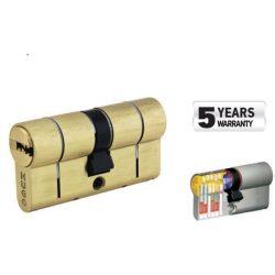 60031 -  cilinder biztonsági záras,  GR3.5S, 90mm (40-50), 5 kulcs, csiszolt sárgaréz