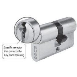 60176 -  cilinder , GR2.5S, 3 kulcs, 75mm(30-45), nikkelezett