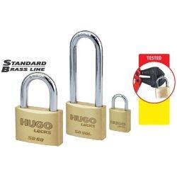 60220 -  lakat,  sárgaréz, hosszú nyakú, SB 30L, 2 kulcs