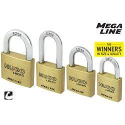 60266 -  lakat , sárgaréz, hosszú nyakú, MEGA 40L, 3 kulcs
