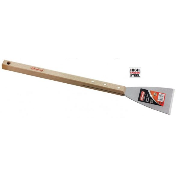 70496 - merev karbon kaparó, hosszú szögletes fa markolat, 100mm,