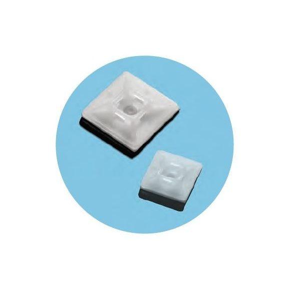 70874 - öntapadó kábelfixáló tappancs, 19X19mm , ?3.6-ig (100db)