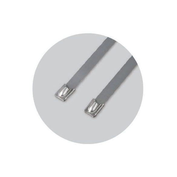 70879 - golyózáras fémszalagos rögzítő (SS316), 200X4.5mm (100db)