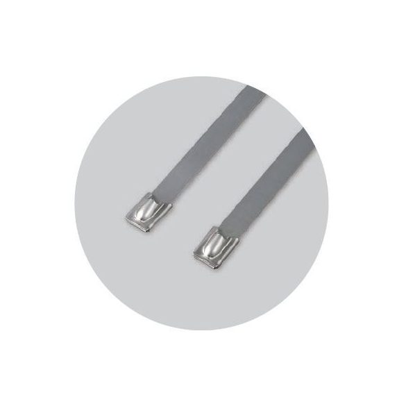70883 - golyózáras fémszalagos rögzítő (SS316), 300X8mm (100db)