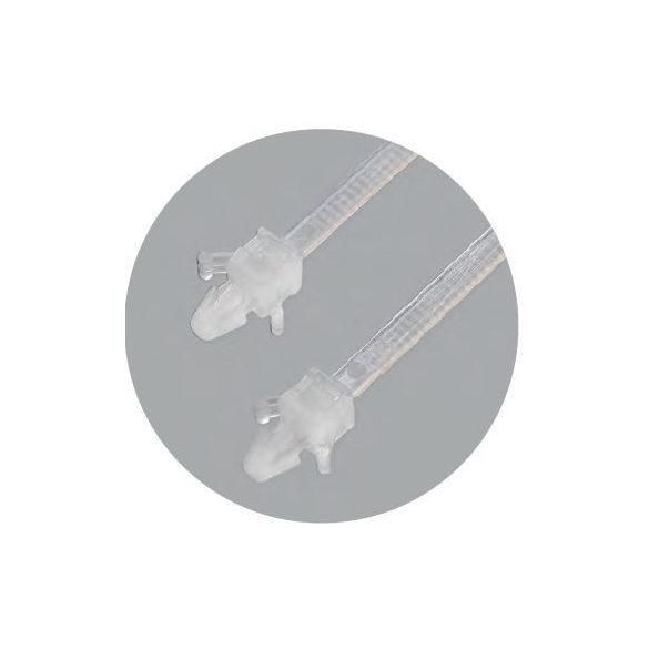 70898 - kábelkötegelő lyukakhoz, fehér, 200x4.8mm (100db)