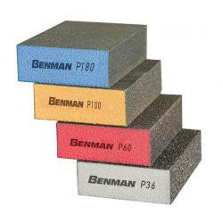 72223 - csiszolótömb, 4 oldalas, P100, 100x68x25, BENMAN