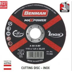 74261 - vágókorong, inox-hoz (rozsdamentes acél), MAXPOWER , 125x1.0mm