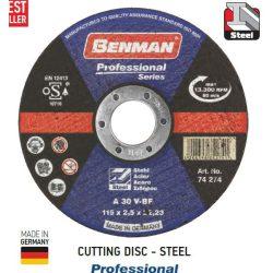 74276 -  vágókorong, acélhoz, professzionális , 180x3.0mm