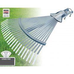 77067 -  állítható fűseprű, professzionális, 22 fog, 390mm hossz, 33cm - 49,5cm munkaszélesség